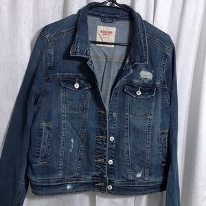 NWOT Mossimo Distressed Denim Jacket from Target